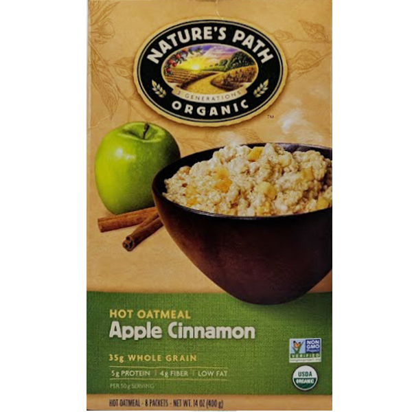 6d36c19a22d Nature's Path Organic Hot Oatmeal Apple Cinnamon - Link Market